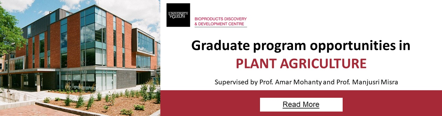 Graduate program opportunities - Plant Agriculture