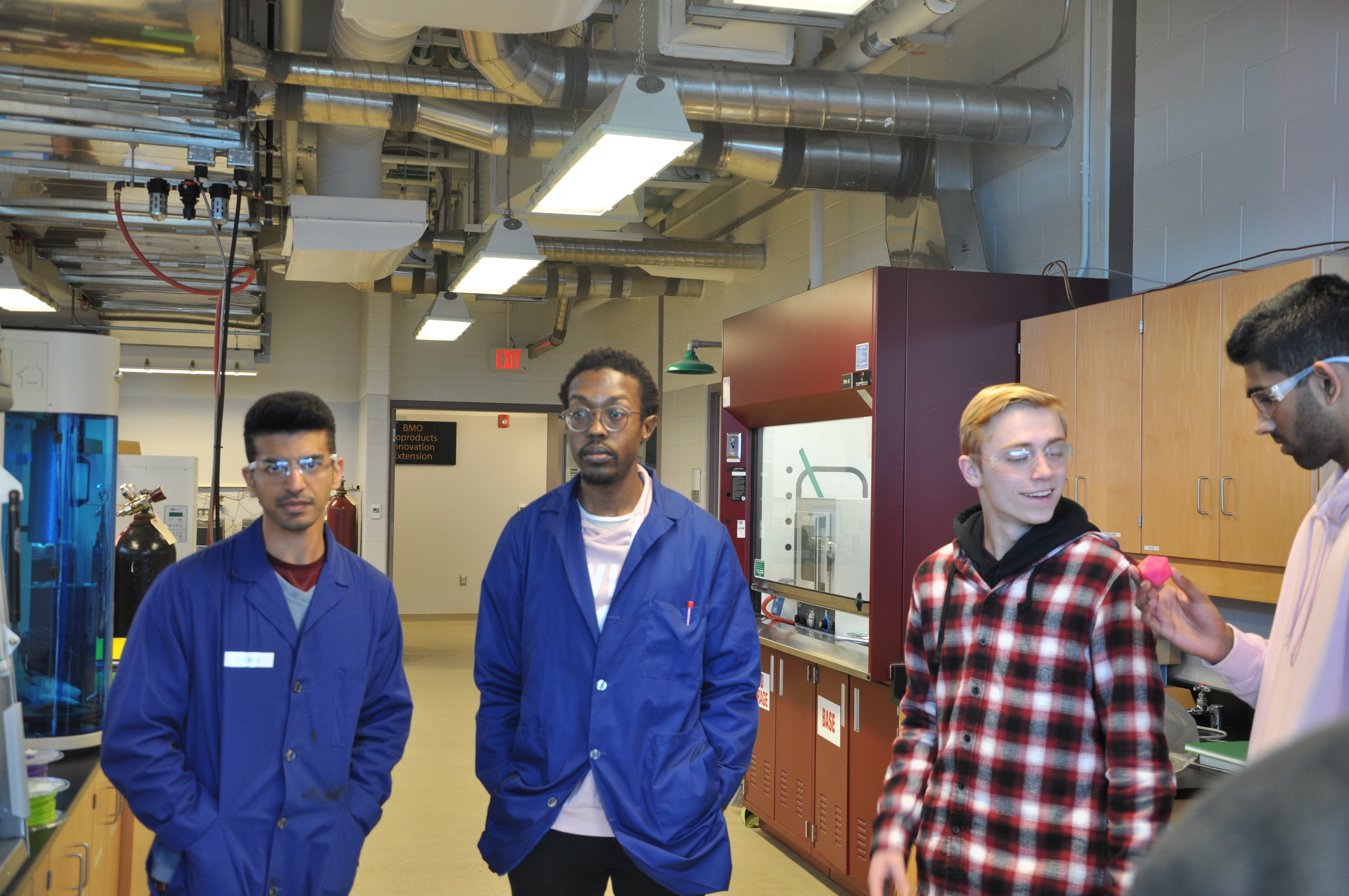 CVI Centennial students examine bioproducts from 3D printer